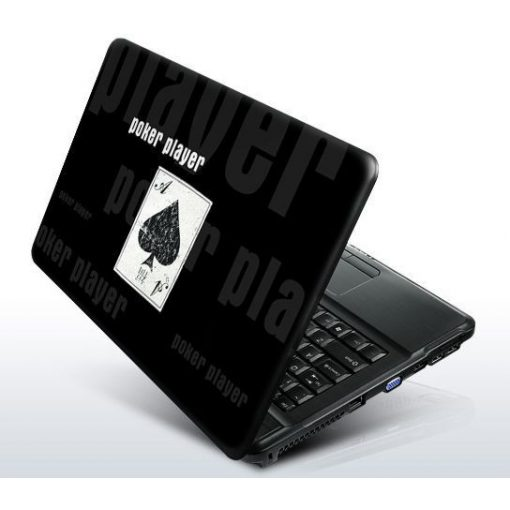 Poker Player Black laptopmatrica